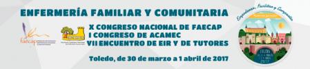 X Congreso Nacional de FAECAP, I Congreso de ACAMEC y VII Encuentro de EIR y de Tutores, Toledo dias 30-31 de marzo y 1 de abril de 2017